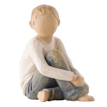 susan lordi figura estátua família anjo peça decoraçao casa significado amizade amor felicidade willow tree desejo aniversário presente menino