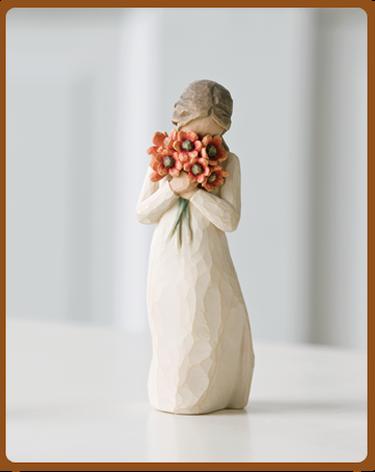 susan lordi figura estátua família anjo peça decoraçao casa significado amizade amor felicidade willow tree desejo aniversário presente amor amizade