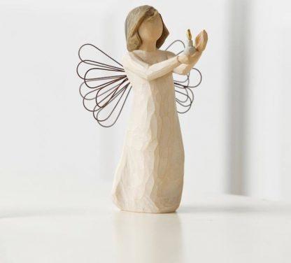 susan lordi figura estátua família anjo peça decoraçao casa significado amizade amor felicidade willow tree desejo aniversário presente anjo da esperança