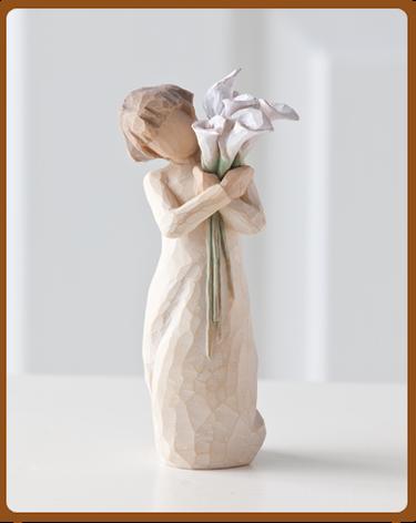 susan lordi figura estátua família anjo peça decoraçao casa significado amizade amor felicidade willow tree desejo aniversário presente jarros amizade