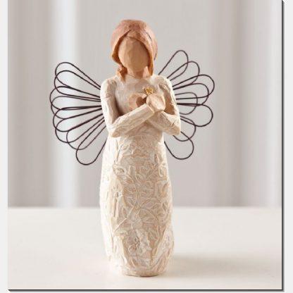 susan lordi figura estátua família anjo peça decoraçao casa significado amizade amor felicidade willow tree desejo aniversário presente saudades lembranças