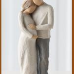susan lordi figura estátua família anjo peça decoraçao casa significado amizade amor felicidade willow tree desejo aniversário presente casal gravidez