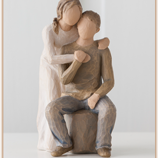 susan lordi figura estátua família anjo peça decoraçao casa significado amizade amor felicidade willow tree desejo aniversário presente casal amor