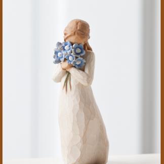 susan lordi figura estátua família anjo peça decoraçao casa significado amizade amor felicidade willow tree desejo aniversário presente nunca me esqueças