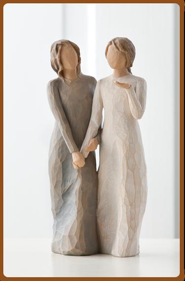 susan lordi figura estátua família anjo peça decoraçao casa significado amizade amor felicidade willow tree desejo aniversário presente irmãs amigas