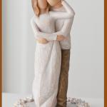 susan lordi figura estátua família anjo peça decoraçao casa significado amizade amor felicidade willow tree desejo aniversário presente topo de bolo juntos together