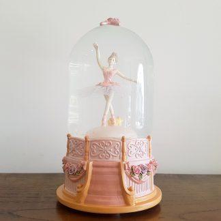 caixa de música globo de neve bailarina