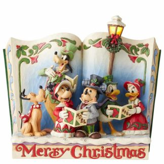 mickey minnie disney traditions jim shore natal santaclaus pai natal merry christmas