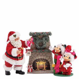 possible dreams natal pai natal santaclaus mickey minnie disney lareira