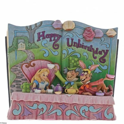 alice no país das maravilhas disney traditions jim shore livro happy unbirthday