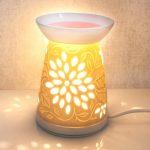 flowers warmer heart & home queimador eléctrico cera óleo heart&home