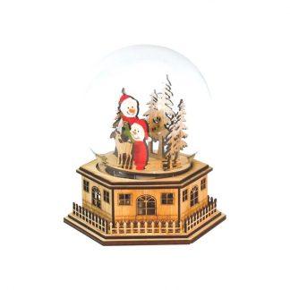 globo de neve caixa de música natal snowglobe