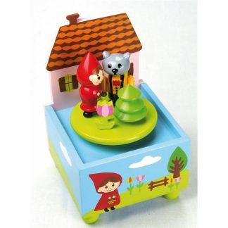 caixa de música capuchinho vermelho