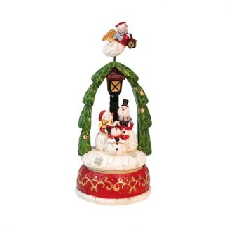 caixa de música boneco de neve peça musical natal