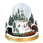 globo de neve caixa de música natal snowglobe pai natal