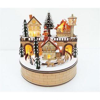 caixa de música natal aldeia de natal