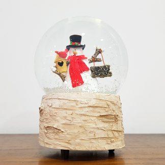 globo boneco de neve let it snow natal caixa de música