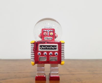 globo de neve robot vermelho