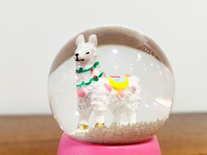 globo de neve lama