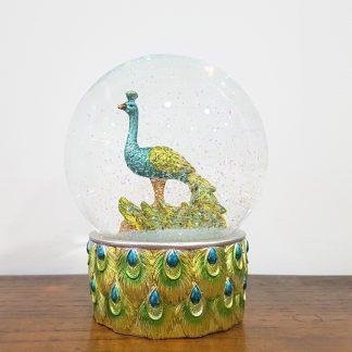 globo de neve ave pavão