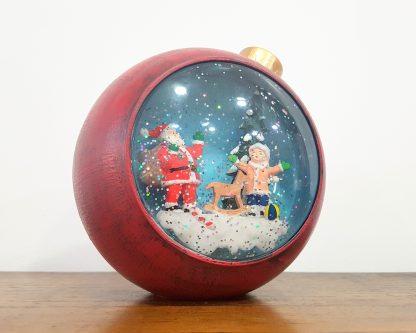 globo de neve caixa de música natal músicas jingle bells neve magia