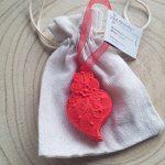 agostinha gesso perfumado portugal coração de viana anjo floco de neve natal magia linho caixa tradicional tradição