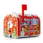 lata tin carrossel globo de neve the silver crane company caixa correio mailbox