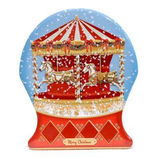 lata tin carrossel globo de neve the silver crane company