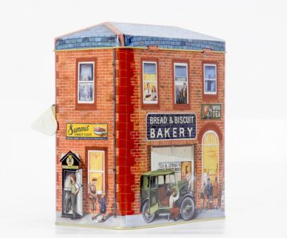 bakery lata silver crane company tin