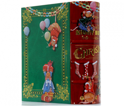 lata tin livro nutcracker mouse mice natal the silver crane company