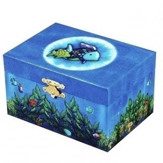 caixa de música boite a musique caixinha de bailarina peixe