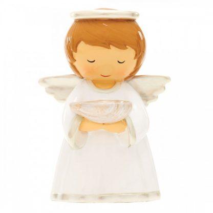 Batismo - Anjo da Guarda Pérola (M-12cm) Referência 18024 little drops of water