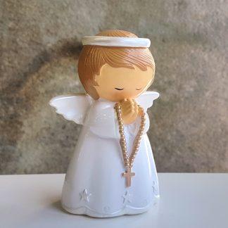 anjo baptismo baptizado concha little drops of water topo de bolo terço fé