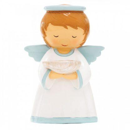 Batismo - Anjo da Guarda Azul (M-12cm) Referência 18022 little drops of water