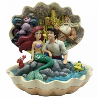 concha ariel a pequena sereia the little mermaid jim shore disney traditions