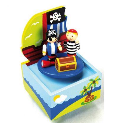 Barco Piratas Dançarinos caixa de música