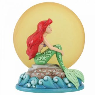 ariel little mermaid a pequena sereia lua luz disney traditions jim shore