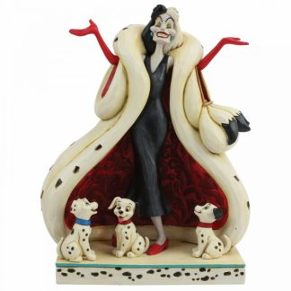 cruella de vil 101 dálmatas jim shore heartwood creek disney tradtions
