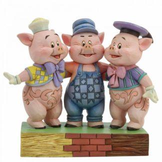 os três porquinhos disney traditions jim shore