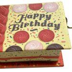 livro realejo parabéns happy birthday manivela caixa de música