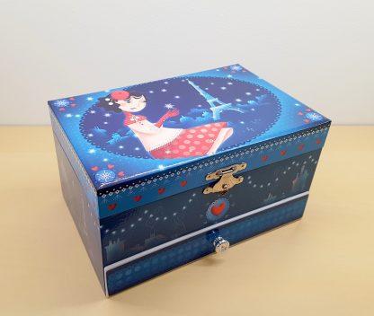 caixa de música bailarina jóias