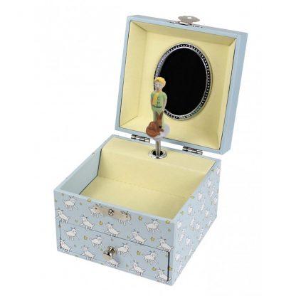 caixa de música bailarina principezinho raposa ovelha le petit prince