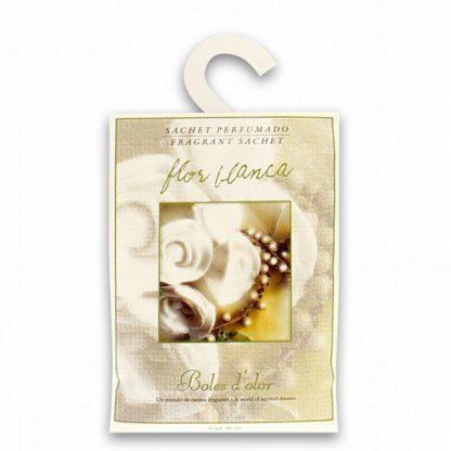 saqueta roupeiro flor branca boles d'olor