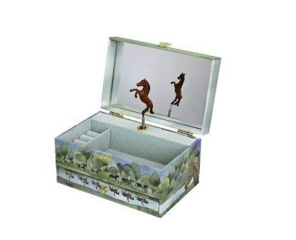 caixa de música cavalos normandy