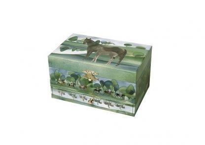 caixa de música cavalos normandya c