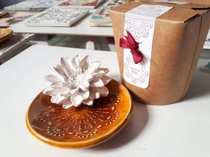 vaso gesso perfumado flor madrinhas cerâmica agostinha