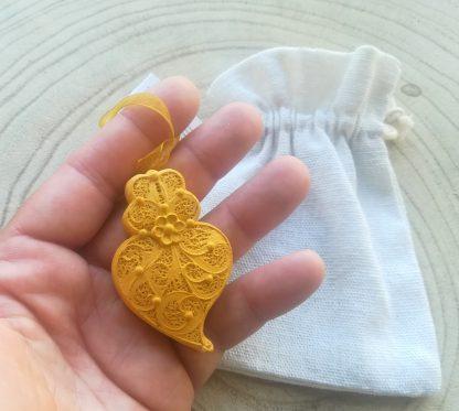 coração de viana filigrana gesso perfumado artesanato lembranças casamento agostinha