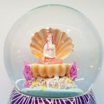 caixa de música globo de neve sereia concha mar