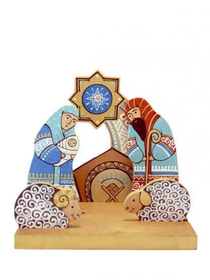 tríptico madeira presépio koza dereza ucrânia sagrada família koza dereza