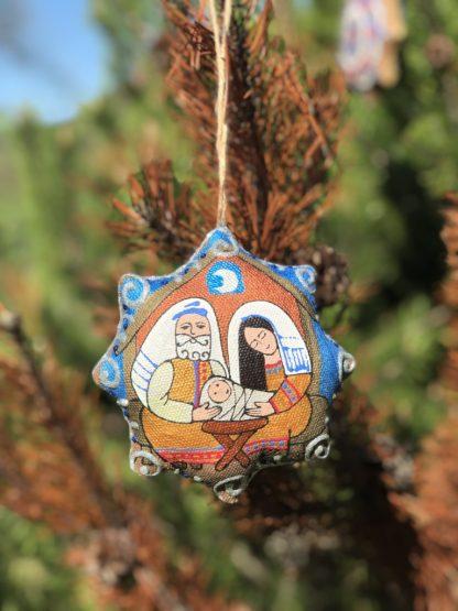estrela de natal presépio artesanal ucrânia holy family nativity